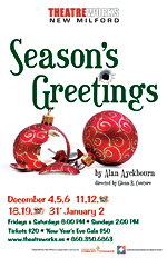 Theatreworks new milford ct live theatre seasons greetings its just a typical english christmas at belinda and nevilles quaint country homeor is it neville has once again forgotten to buy his wife a gift m4hsunfo